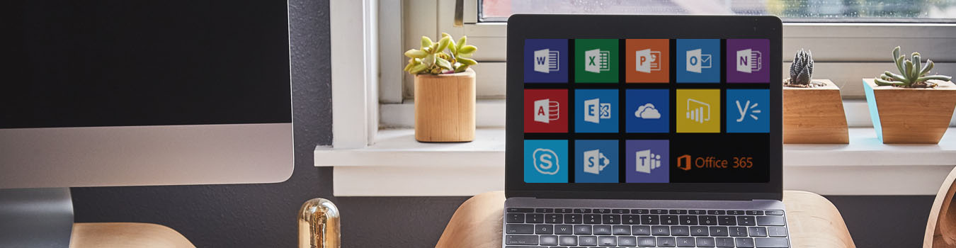 laptop with Microsoft office 365 icons | Silicon Overdrive