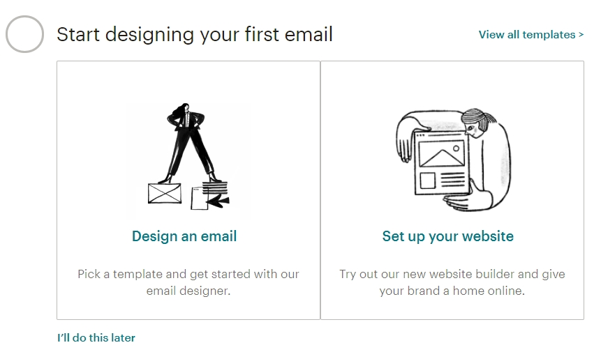 Start designing your first email