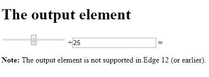 HTML output tag