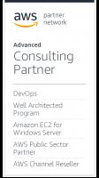 AWS DevOps Consulting Partner Badge